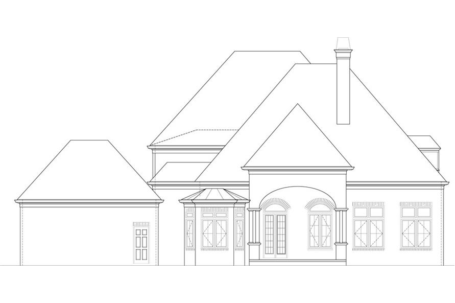106-1291: Home Plan Rear Elevation