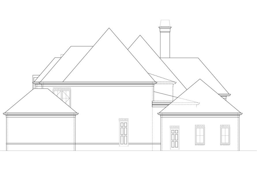 106-1291: Home Plan Right Elevation