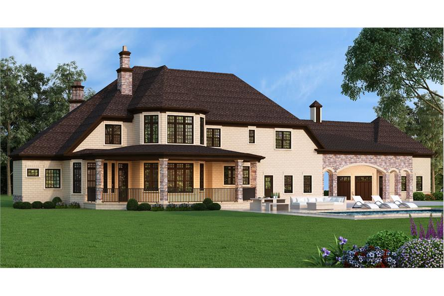 Home Plan Rendering of this 5-Bedroom,3302 Sq Ft Plan -3302