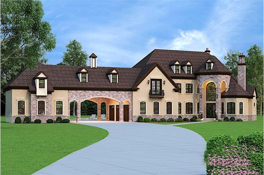 5-Bedroom, 3302 Sq Ft European Home  - Plan #106-1292 - Front Exterior