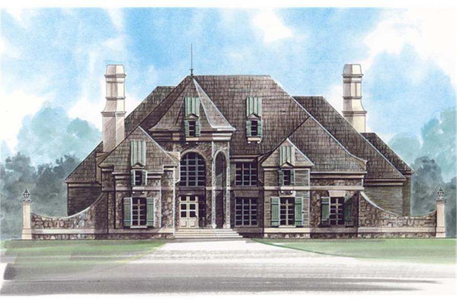 Home Plan Rendering of this 5-Bedroom,4140 Sq Ft Plan -4140