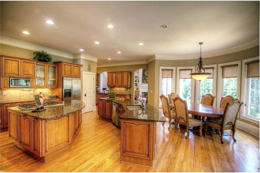 Kitchen: Breakfast Nook of this 5-Bedroom,4140 Sq Ft Plan -4140