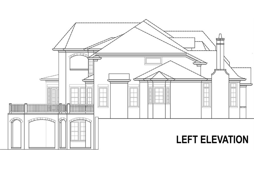 106-1294: Home Plan Left Elevation