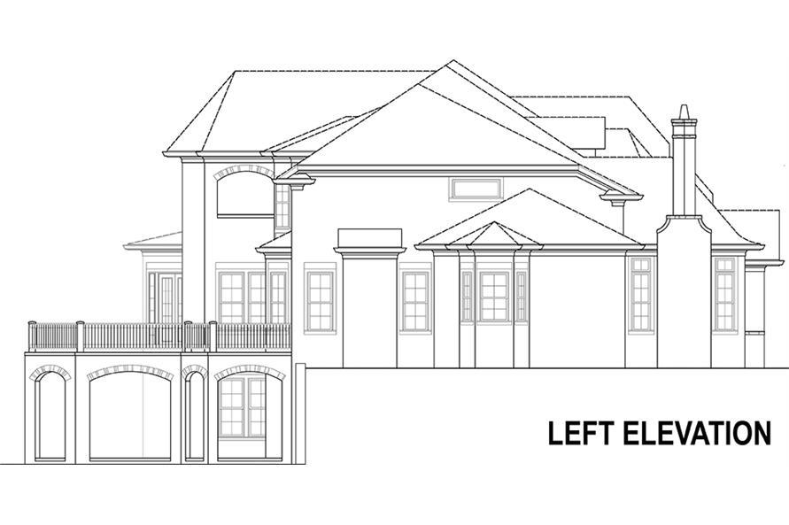 106-1294: Home Plan Left Elevation