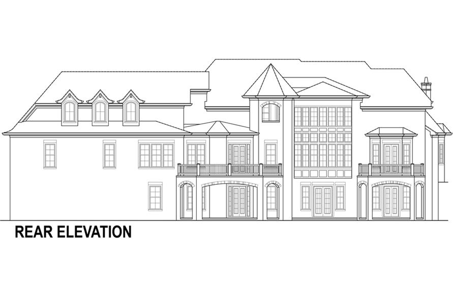 106-1294: Home Plan Rear Elevation
