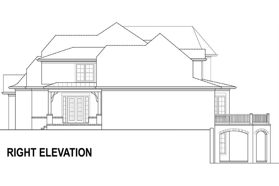 106-1294: Home Plan Right Elevation