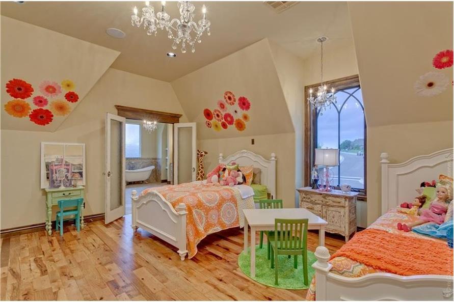 Bedroom: Kids of this 4-Bedroom,4458 Sq Ft Plan -4458