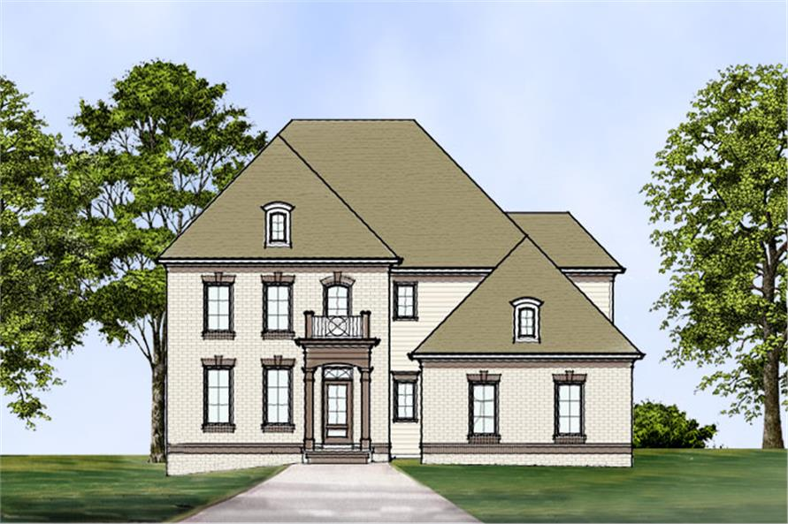 106-1296: Home Plan Front Elevation