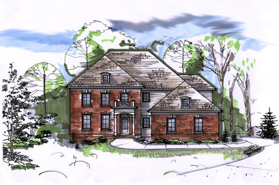 106-1296: Home Plan Rendering