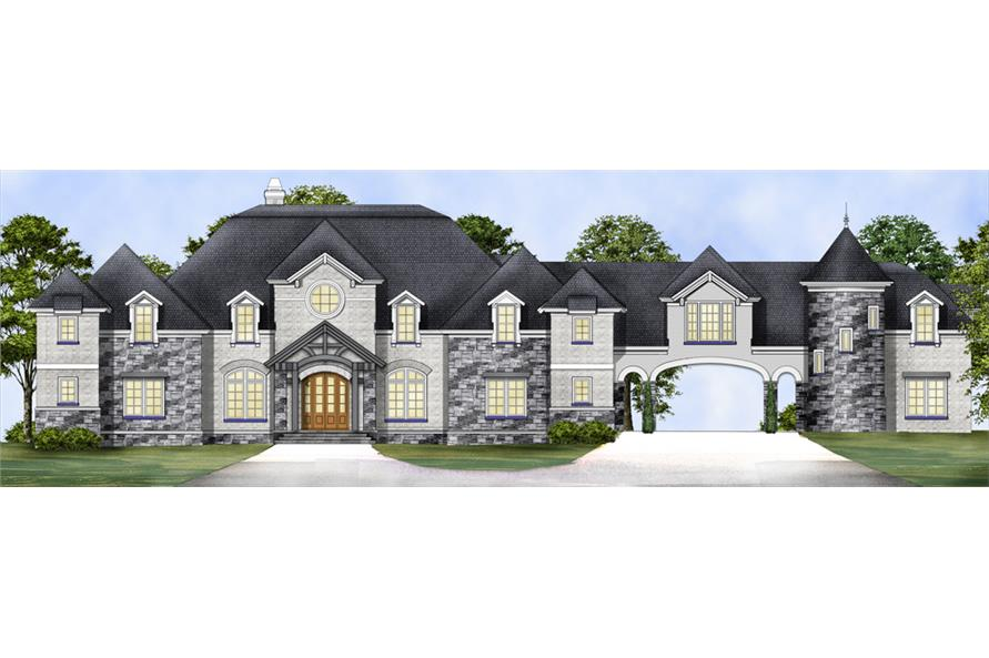 Home Plan Rendering of this 4-Bedroom,6532 Sq Ft Plan -6532