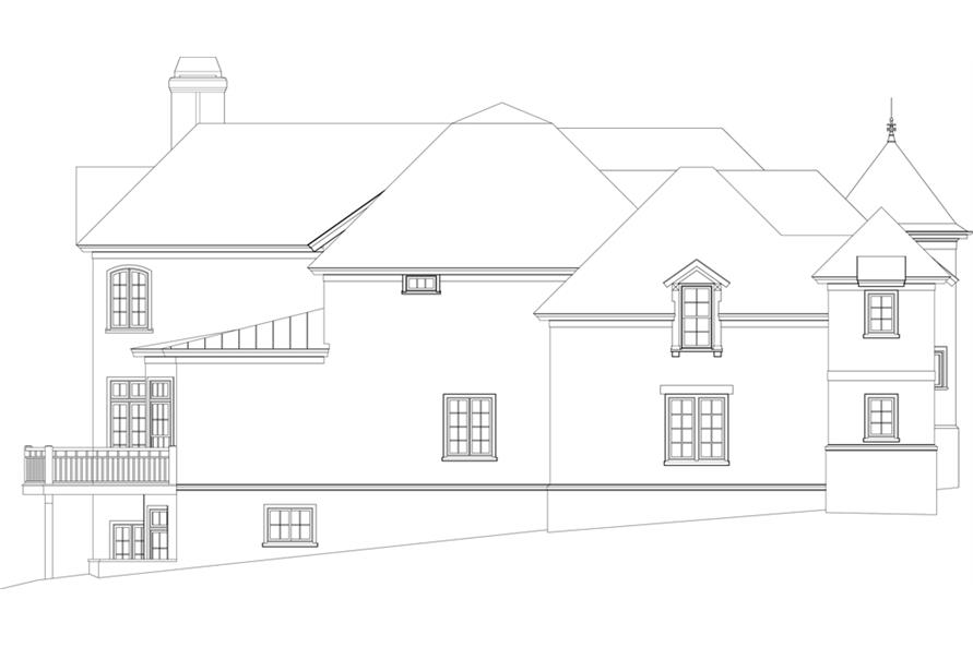 Home Plan Left Elevation of this 4-Bedroom,6532 Sq Ft Plan -106-1298