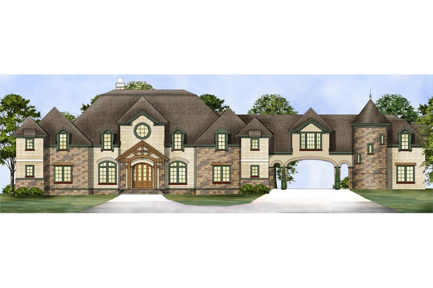 4-Bedroom, 6532 Sq Ft Chateau Home Plan - 106-1298 - Main Exterior