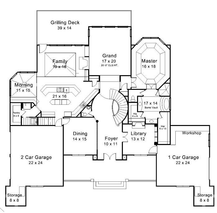 European House Plan 106 1300 4 Bedrm 4504 Sq Ft Home