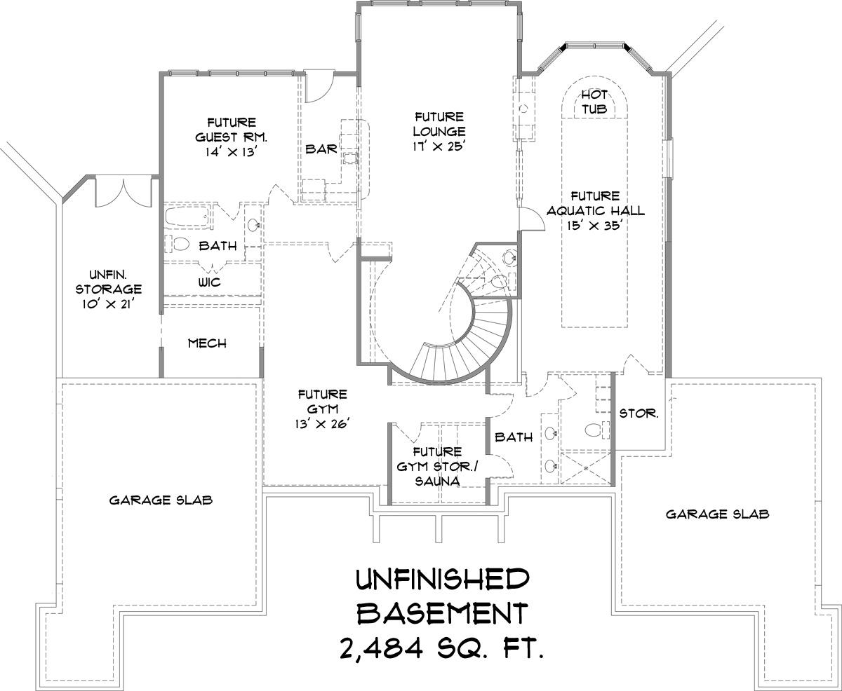 European House Plan 106 1300 4 Bedrm 4504 Sq Ft Home