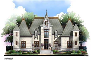 4-Bedroom, 4504 Sq Ft European Home Plan - 106-1300 - Main Exterior