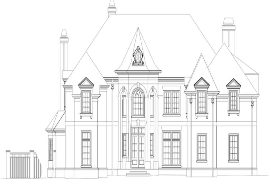 106-1301: Home Plan Front Elevation