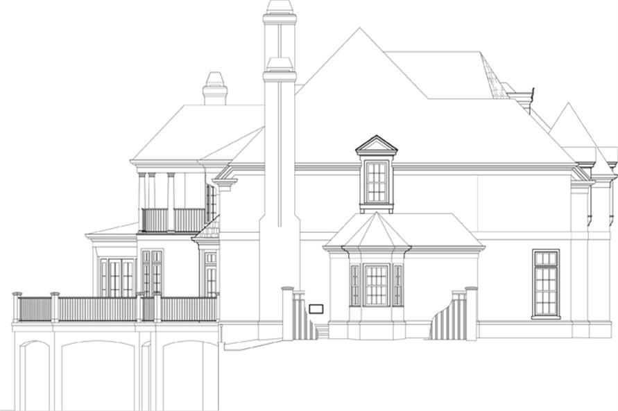106-1301: Home Plan Left Elevation
