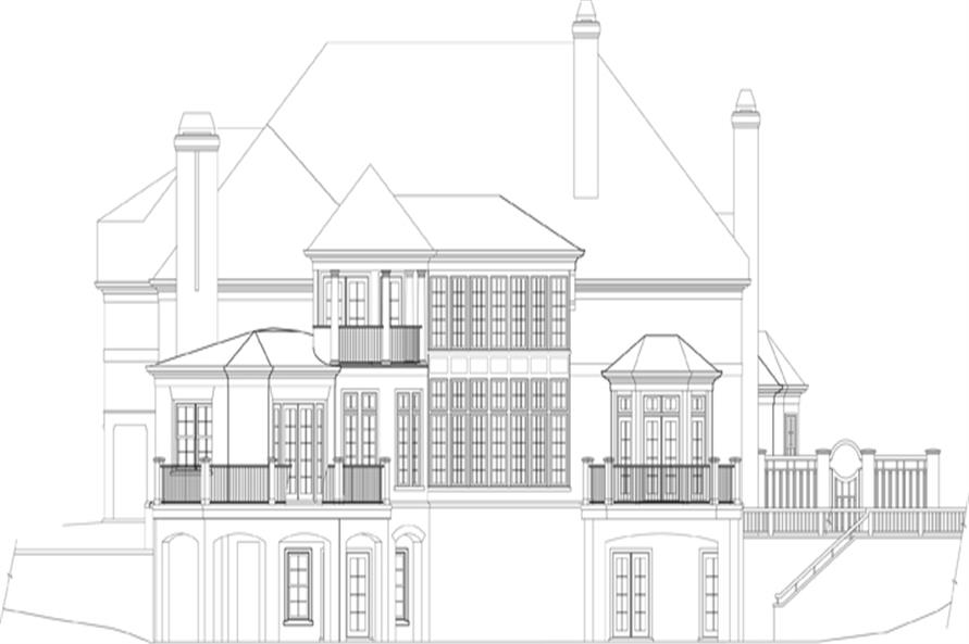 106-1301: Home Plan Rear Elevation