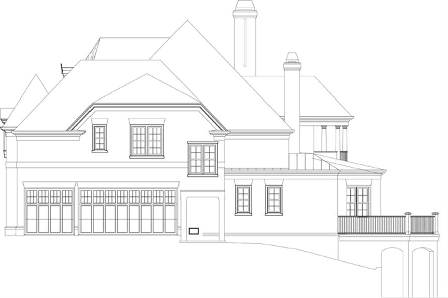 Home Plan Right Elevation of this 4-Bedroom,3777 Sq Ft Plan -106-1301