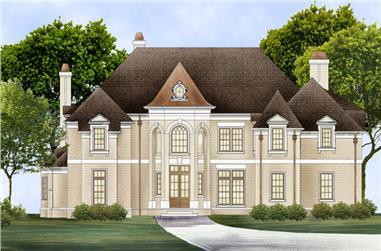 4-Bedroom, 3777 Sq Ft European Home Plan - 106-1301 - Main Exterior