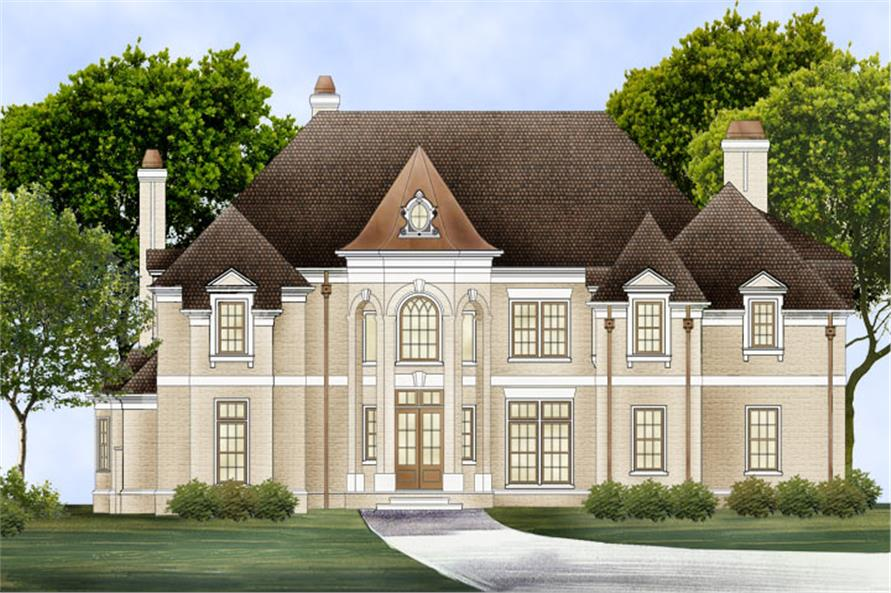 4-Bedroom, 3777 Sq Ft European Home Plan - 106-1301 - Main Exterior