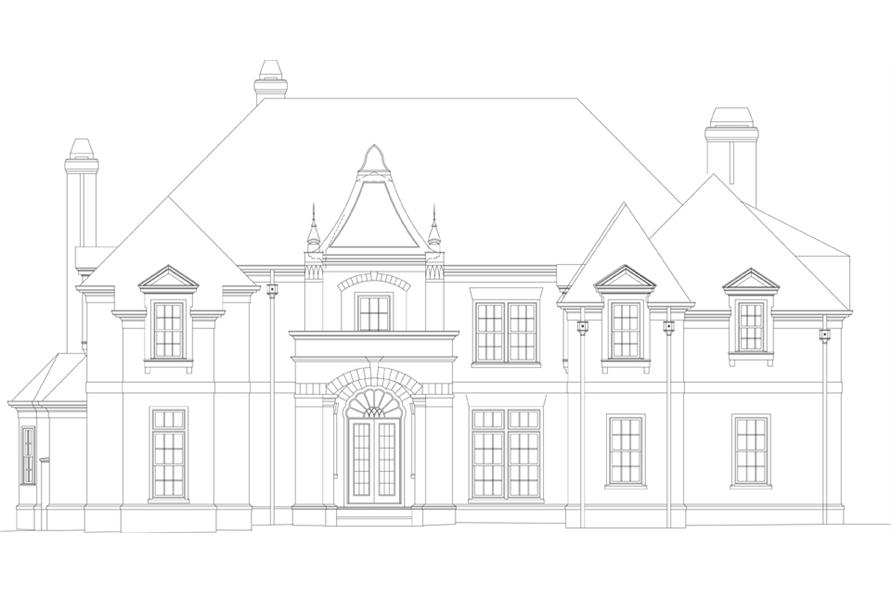 106-1302: Home Plan Front Elevation
