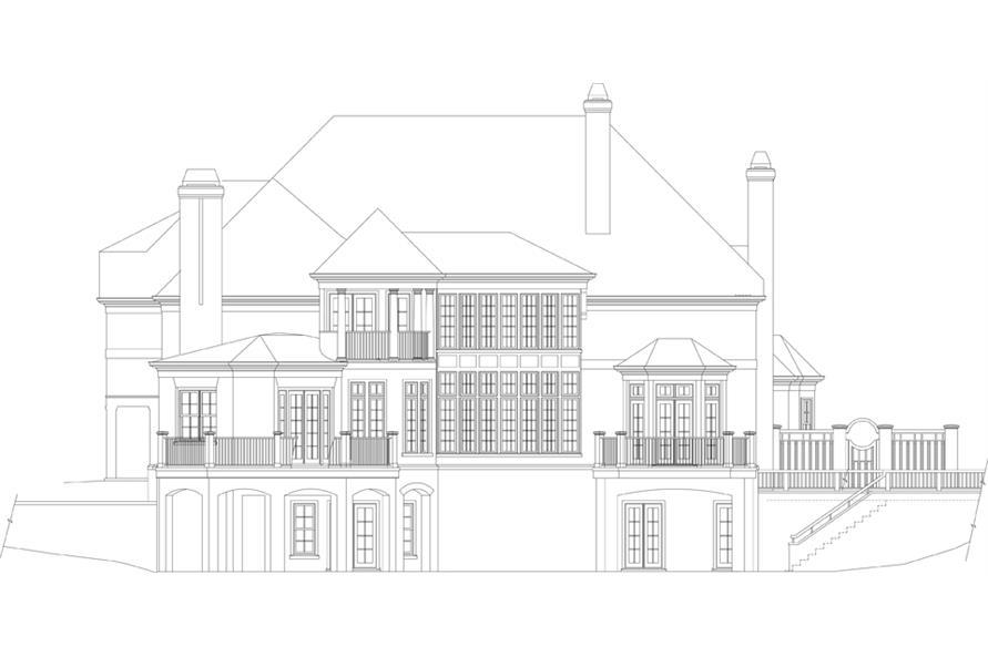 106-1302: Home Plan Rear Elevation