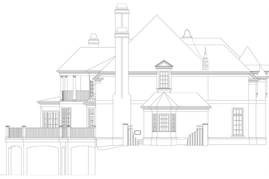 106-1302: Home Plan Left Elevation