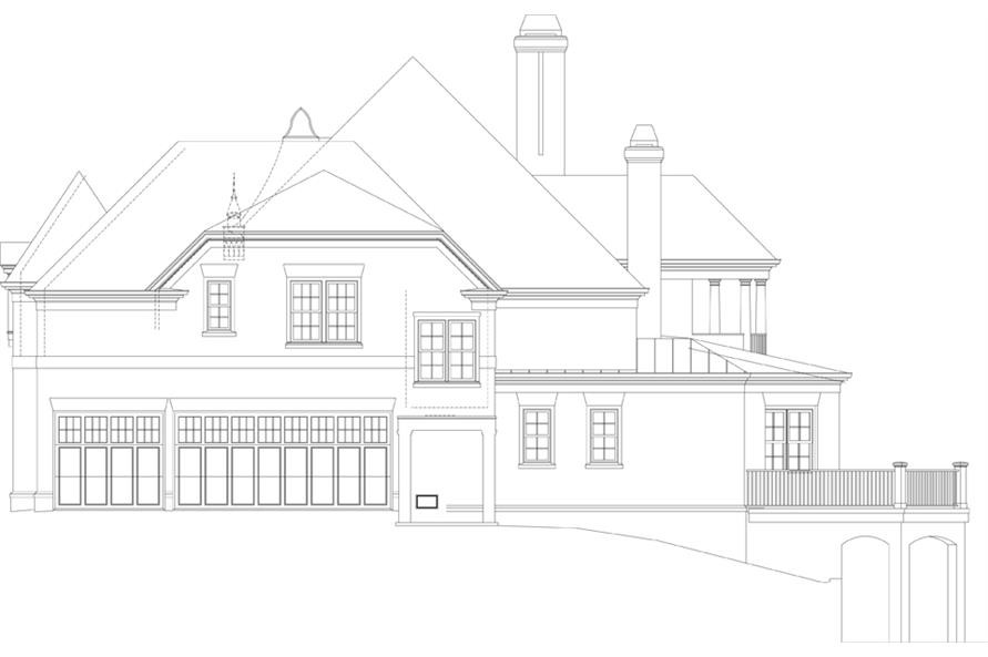 106-1302: Home Plan Right Elevation