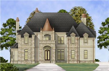 4-Bedroom, 3868 Sq Ft Luxury House Plan - 106-1302 - Front Exterior