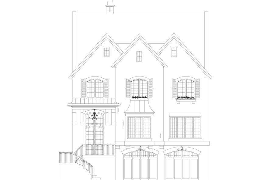 106-1303: Home Plan Front Elevation