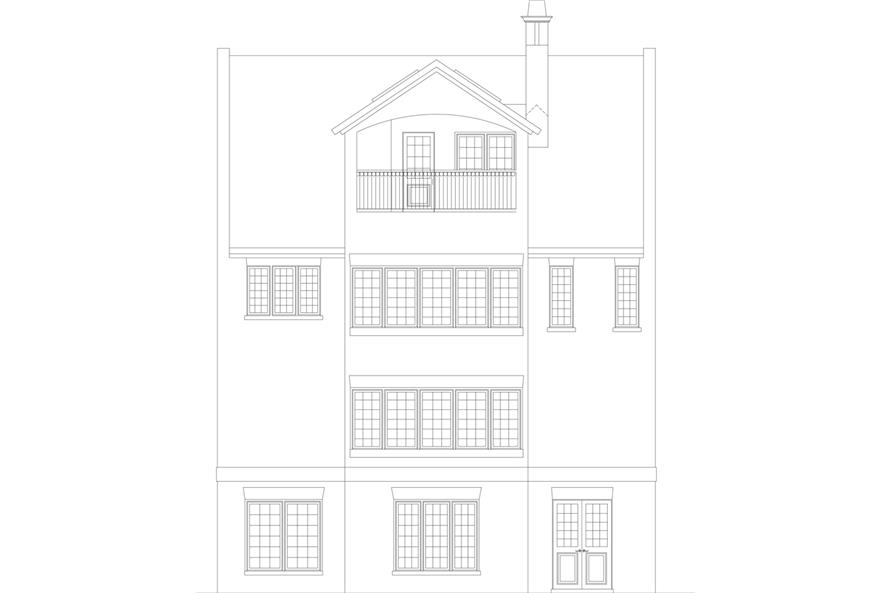 106-1303: Home Plan Rear Elevation