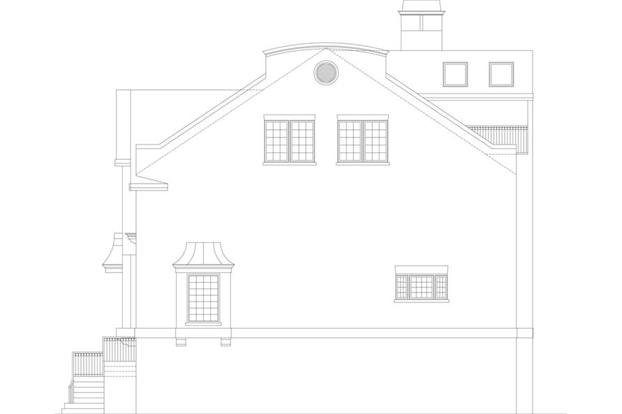 106-1303: Home Plan Right Elevation
