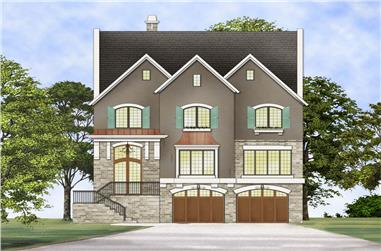 Front elevation of Traditional home (ThePlanCollection: House Plan #106-1303)