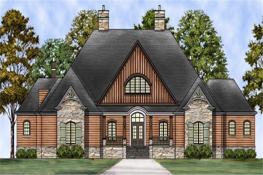 Home Plan Rendering of this 3-Bedroom,5194 Sq Ft Plan -106-1304