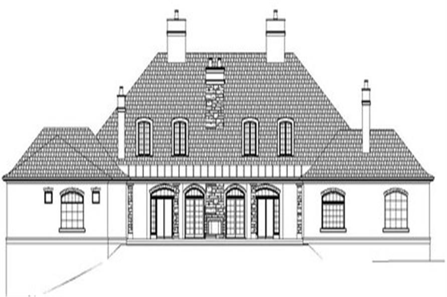Home Plan Rear Elevation of this 3-Bedroom,5194 Sq Ft Plan -106-1304