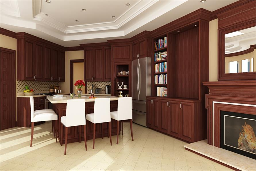 106-1305: Home Plan Rendering-Kitchen