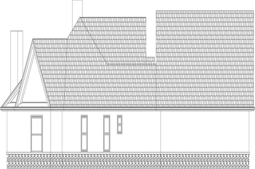 106-1305: Home Plan Left Elevation