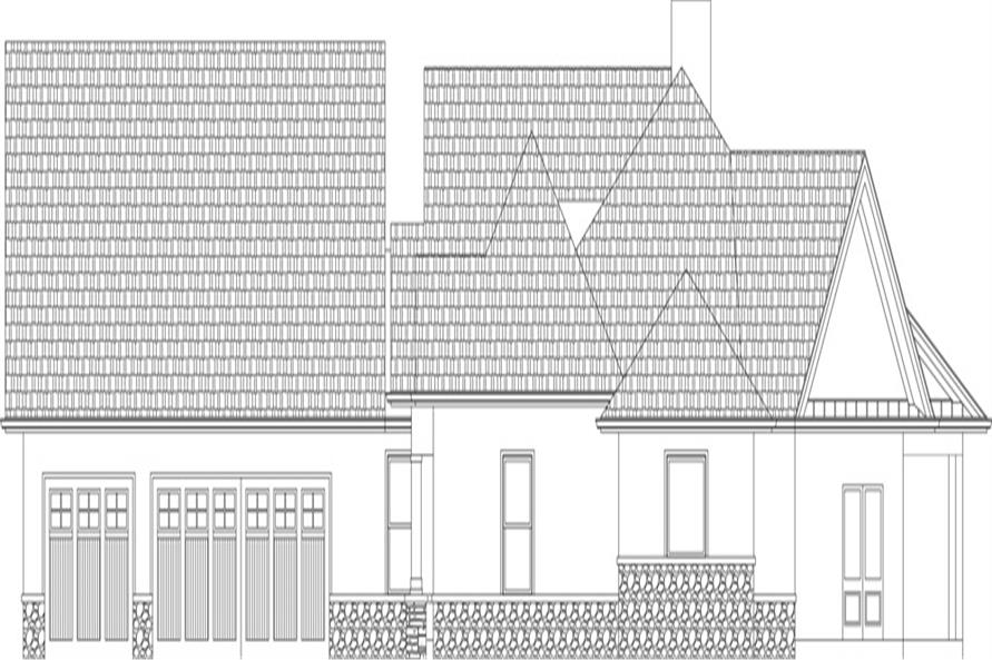 106-1305: Home Plan Right Elevation