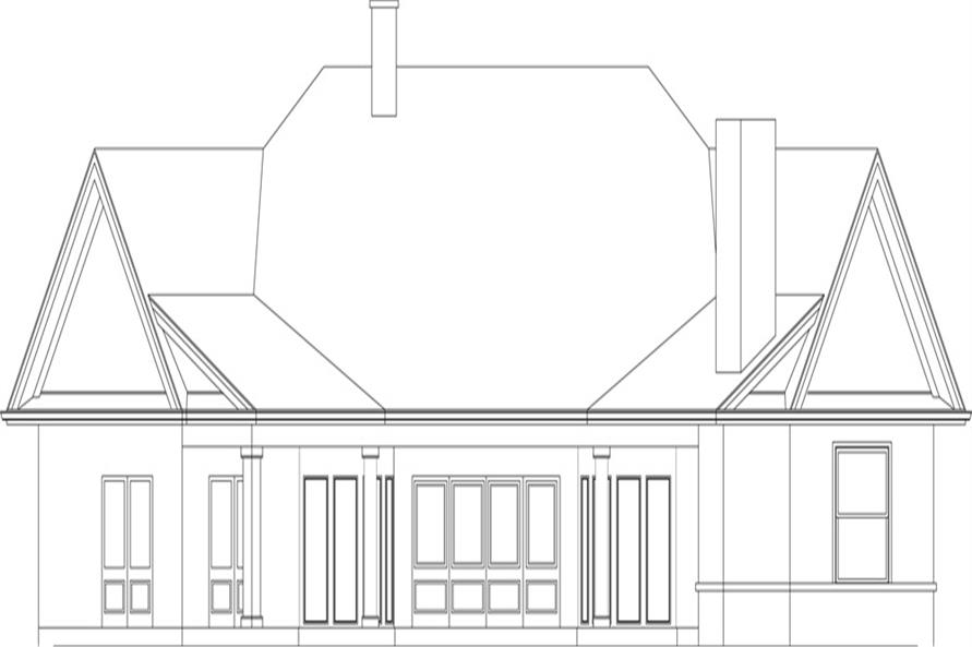 106-1305: Home Plan Rear Elevation