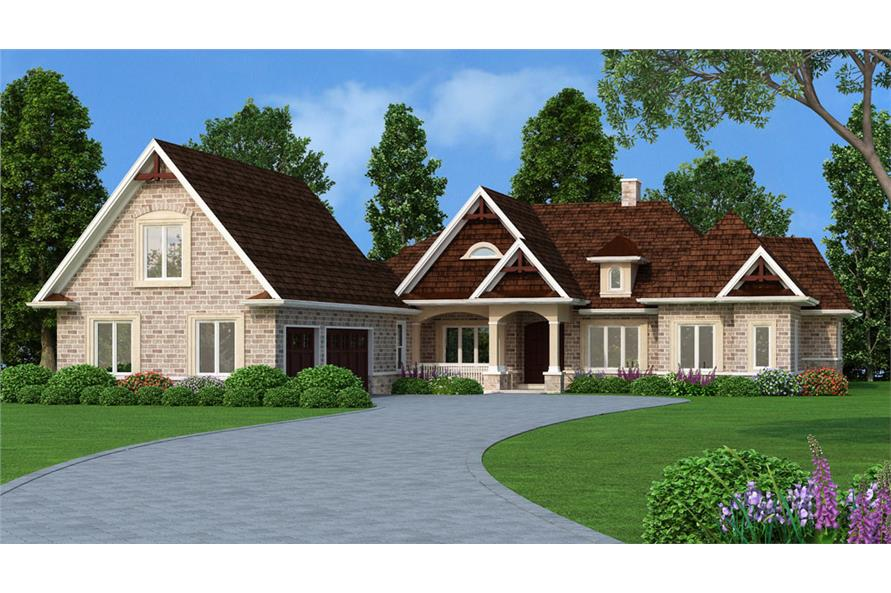 Front elevation of Country home (ThePlanCollection: House Plan #106-1305)