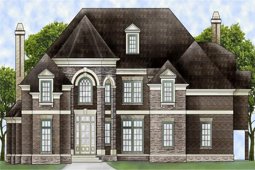 Front elevation of Traditional home (ThePlanCollection: House Plan #106-1306)