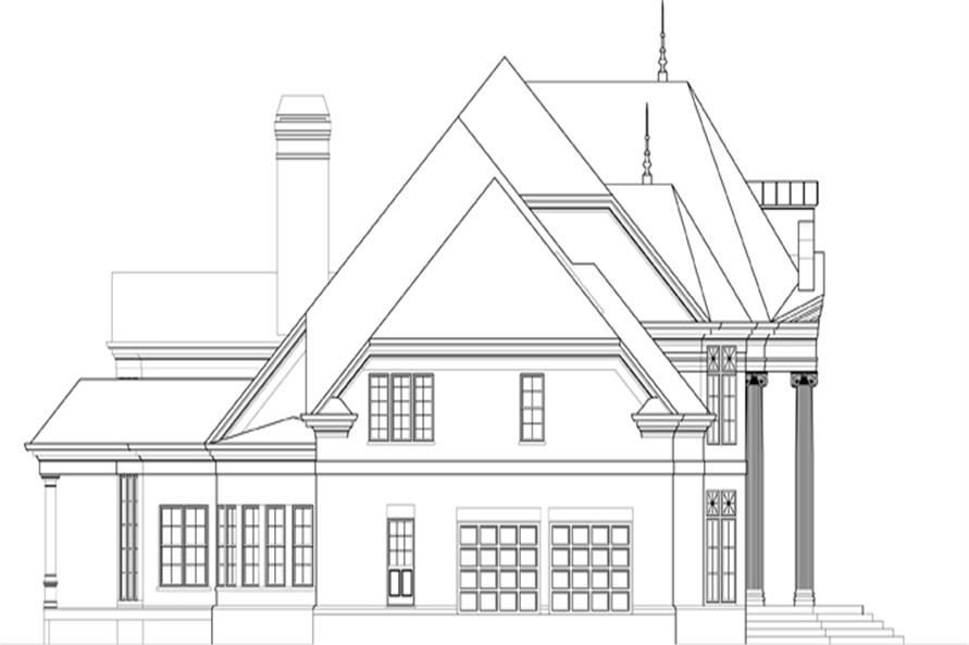 106-1307: Home Plan Left Elevation