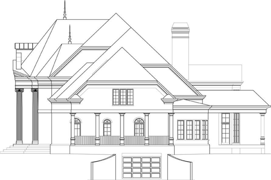 106-1307: Home Plan Right Elevation