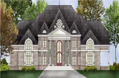 5-Bedroom, 7503 Sq Ft Luxury Home Plan - 106-1307 - Main Exterior