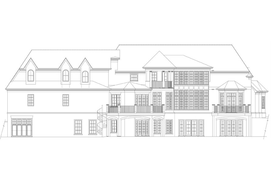 106-1308: Home Plan Rear Elevation