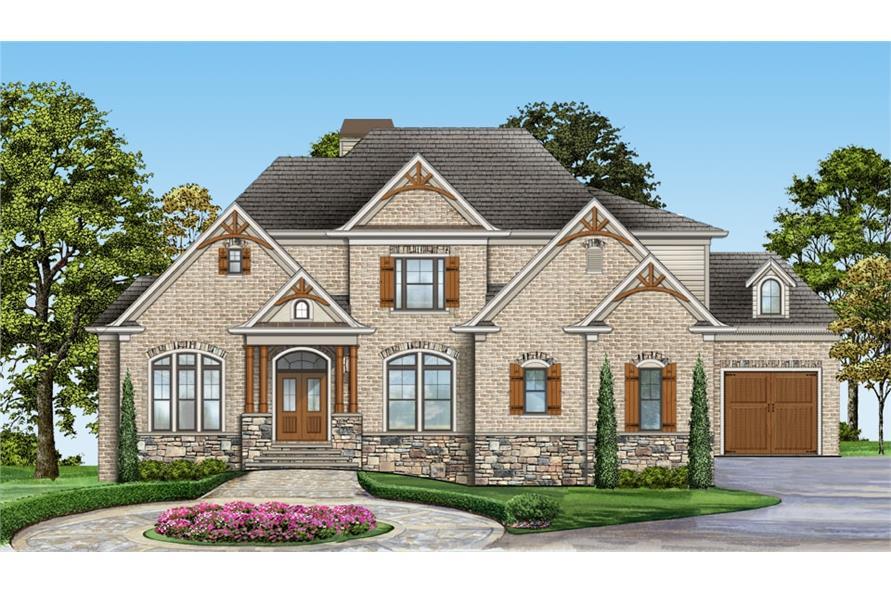 Home Plan Rendering of this 4-Bedroom,2996 Sq Ft Plan -2996