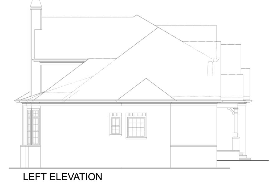 106-1309: Home Plan Left Elevation