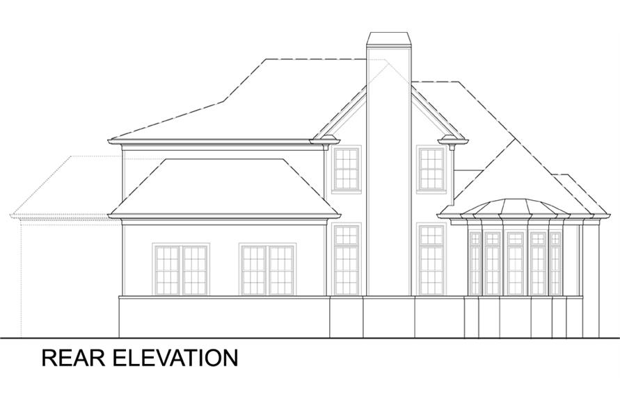 106-1309: Home Plan Rear Elevation