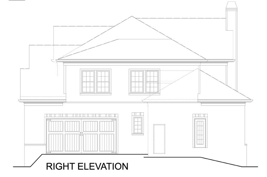 106-1309: Home Plan Right Elevation
